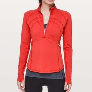 Lululemon Front Of The Pack 1/2 Zip Aries Size 12